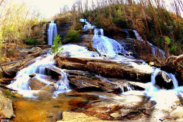 Photograph - Eastatoe Falls/twin Falls 3 by Lisa Wooten