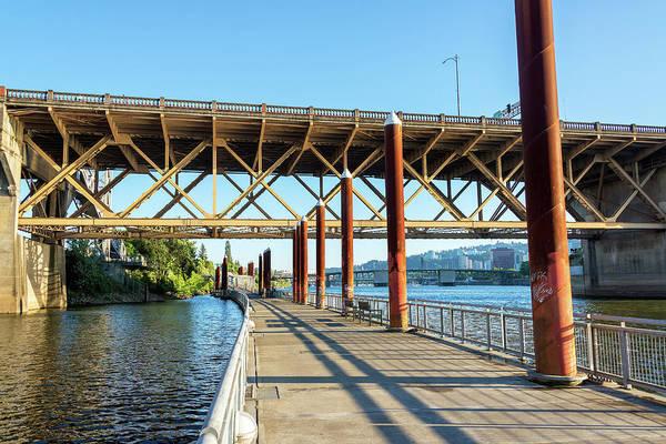 Burnside Bridge Photograph - Eastbank Esplanade In Portland, Oregon by Jess Kraft