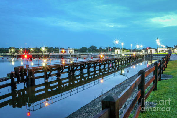 Photograph - Eastbound Lock And Dam Approach by Tom Claud