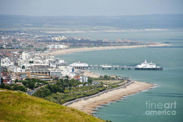 Wall Art - Photograph - Eastbourne From Beachy Head Sussex Uk by Donald Davis
