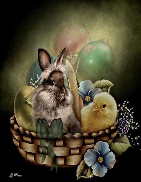 I Phone Case Mixed Media - Easter Basket by G Berry