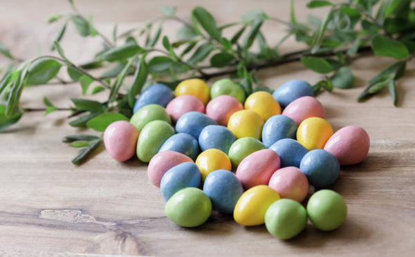Photograph - Easter Eggs 16 by Andrea Anderegg