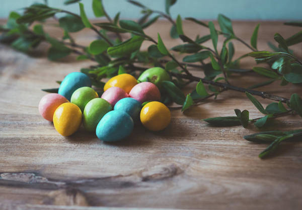 Photograph - Easter Eggs 17 by Andrea Anderegg