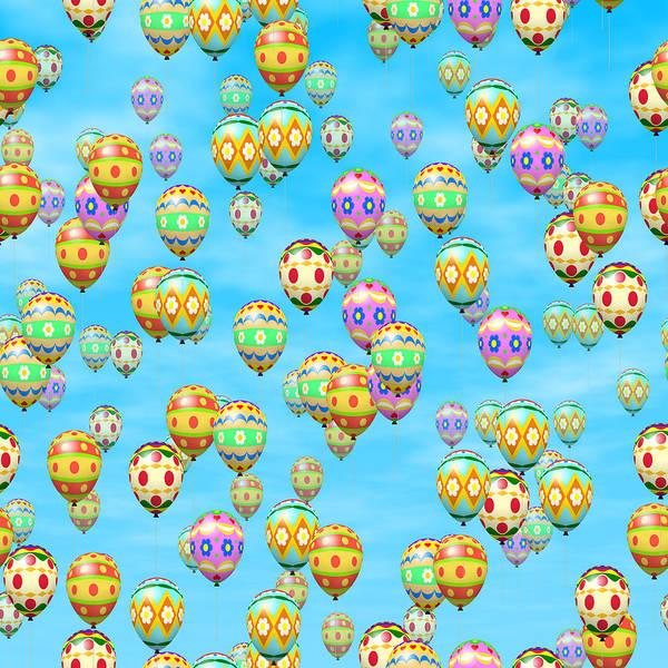 Balloon Festival Digital Art - Easter Eggs Balloons by Miroslav Nemecek