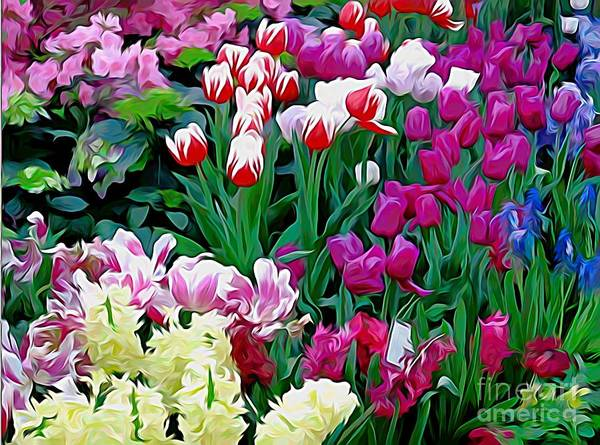Photograph - Easter Flower Show At Botanical Gardens by Rose Santuci-Sofranko