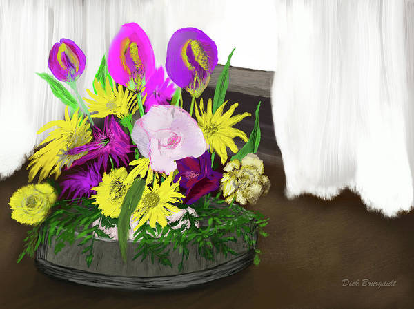 Painting - Easter Flowers by Dick Bourgault