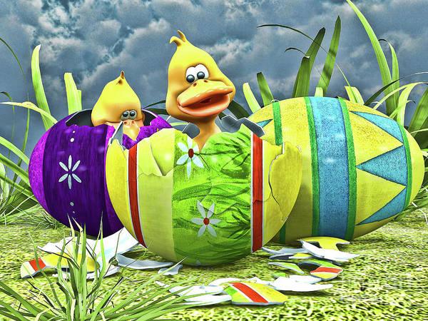 Easter Sunday Digital Art - Easter Fun by Alexander Butler