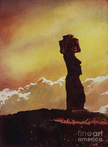World Heritage Site Painting - Easter Island Sun by Ryan Fox