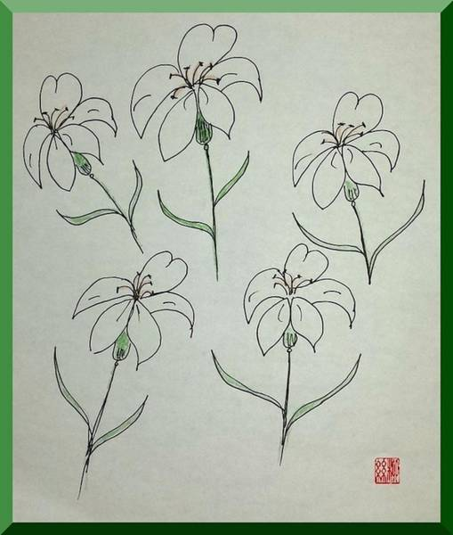 Painting - Easter Lilies by Margaret Welsh Willowsilk