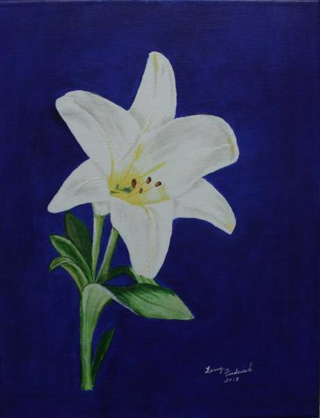 Painting - Easter Lily by Terry Frederick