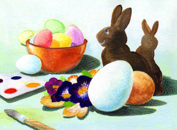 Painting - Easter Morning Still Life by Scott Kirkman
