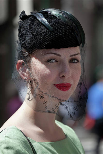 Easter Parade 2011 Hat And Veil Art Print