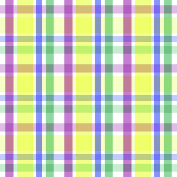 Digital Art - Easter Pastel Plaid Striped Pattern by Shelley Neff