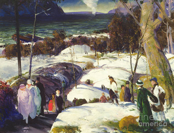 Painting - Easter Snow by George Wesley Bellows