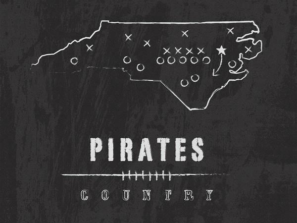 Wall Art - Digital Art - Eastern Carolina Pirates / Ncaa College Football Art / Greenville North Carolina by Damon Gray
