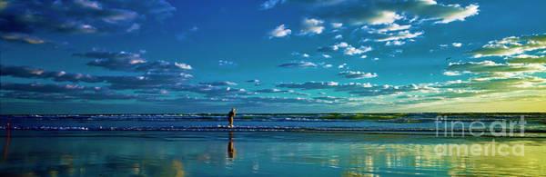 Photograph - Eastern Florida Coast Morning Surf Fishing  by Tom Jelen