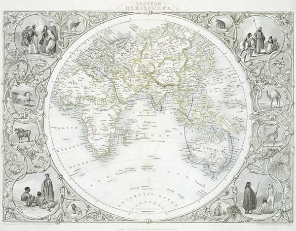 Mapping Drawing - Eastern Hemisphere by John Rapkin