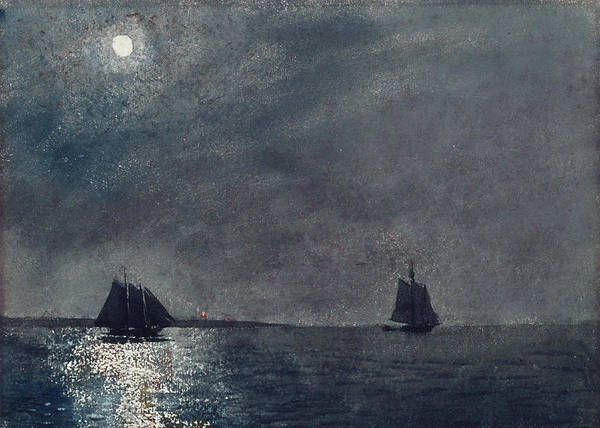 Homer Painting - Eastern Point Light by Winslow Homer
