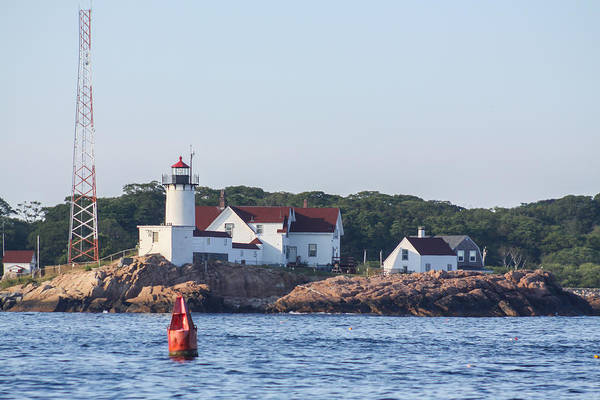 Photograph - Eastern Point Lighthouse And Buoy by Brian MacLean