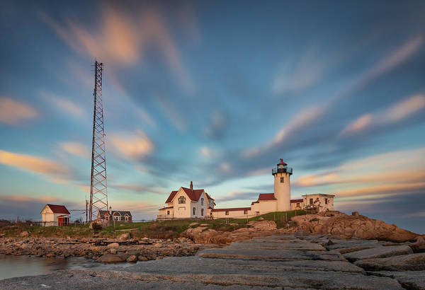 Eastern Point Lighthouse At Sunset Art Print