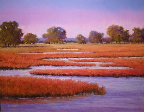 Wall Art - Painting - Eastern Shore Marsh by Paula Ann Ford