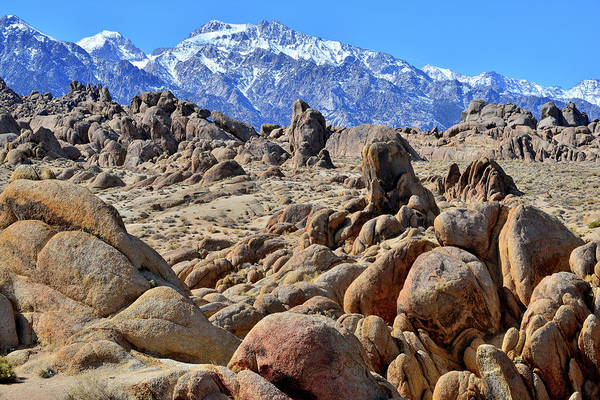 Photograph - Eastern Sierra Nevada Mountains And The Alabama Hills by Ray Mathis