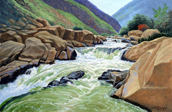 Cascade Wall Art - Painting - Eastern Sierra Stream by Paul Krapf