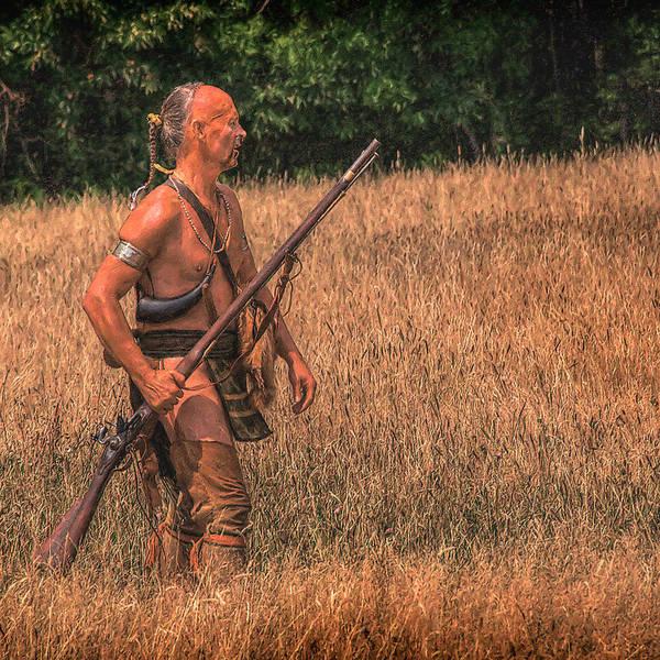 Musket Digital Art - Eastern Woodlands Indian Scout 1 by Randy Steele