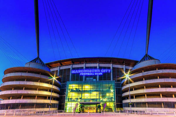 Photograph - Eastlands - Home Of Manchester City by Neil Alexander