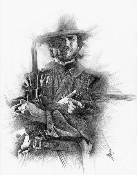 Clint Eastwood Drawing - Eastwood by Wave