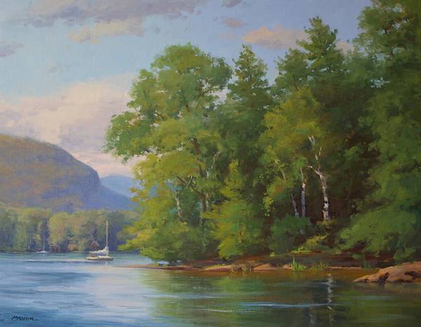 Adirondack Mountains Painting - Easy Morning On Lake George by Marianne Kuhn