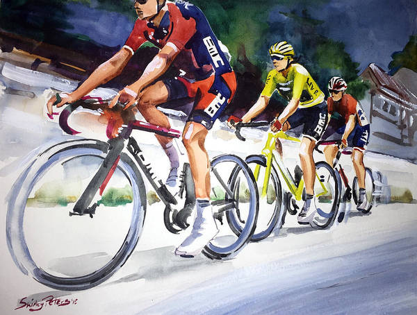 Le Tour De France Wall Art - Painting - Easy Start To Stage 2 by Shirley Peters