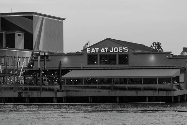 Wall Art - Photograph - Eat At Joes In Black And White by Suzanne Gaff