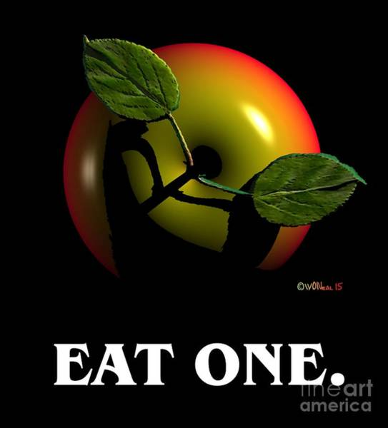 Reflection Digital Art - Eat One  by Walter Neal