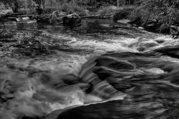 Photograph - Eau Claire Dells Black And White Flow by Dale Kauzlaric