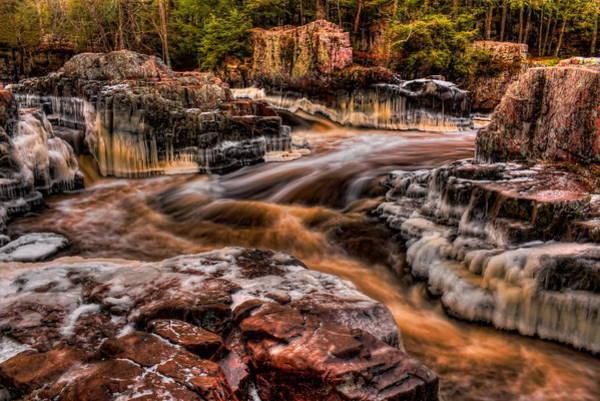 Photograph - Eau Claire Dells Icy Flow by Dale Kauzlaric