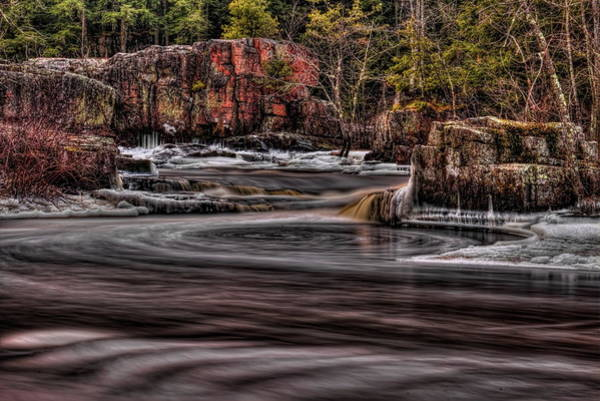 Photograph - Eau Claire Dells Icy Smoothness by Dale Kauzlaric