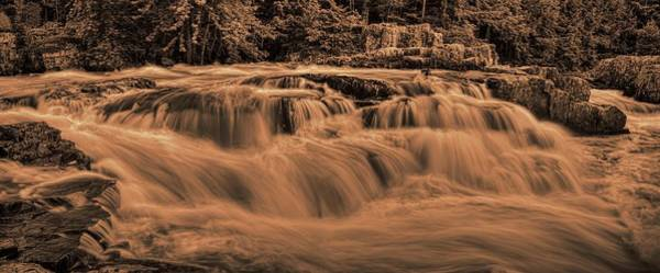 Photograph - Eau Claire Dells Sepia Panoramic by Dale Kauzlaric