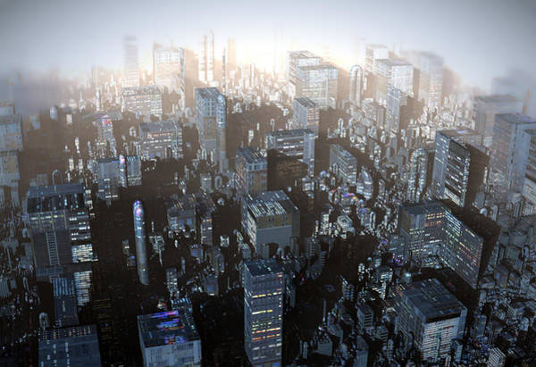 Digital Art - Ebony City by Hal Tenny