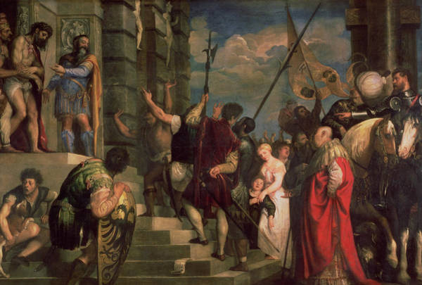 Titian Painting - Ecce Homo, 1543 by Titian