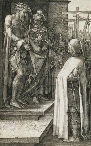 Albrecht Durer Wall Art - Relief - Ecce Homo by Albrecht Durer
