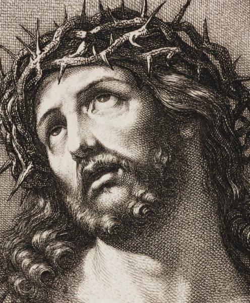 Gospel Drawing - Ecce Homo by Hugo Burkner