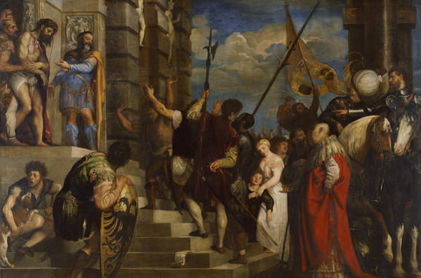 Titian Painting - Ecce Homo by Titian