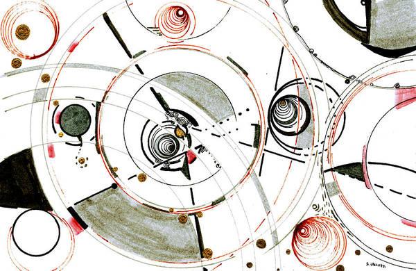 Drawing - Eccentric Orbits by Regina Valluzzi
