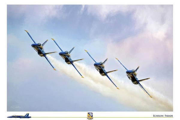 A-18 Hornet Wall Art - Digital Art - Echelon Parade by Peter Chilelli