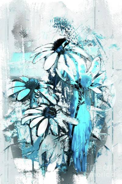 Wall Art - Digital Art - Echinacea - A11bl2 by Variance Collections