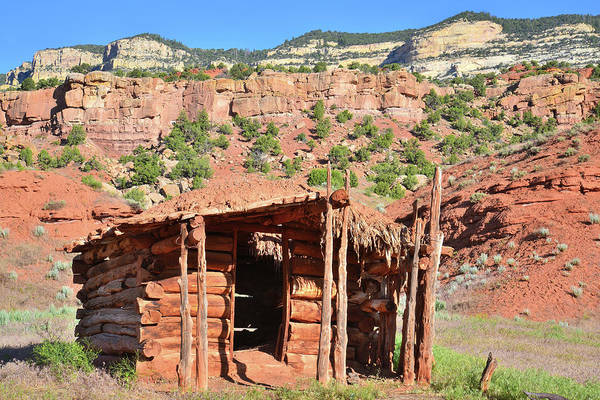 Dinosaur National Park Photograph - Echo Park Cabin In Dinosaur National Monument by Ray Mathis