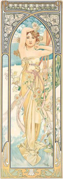 Alphonse Mucha Painting - Eclat Du Jour by Alphonse Marie Mucha