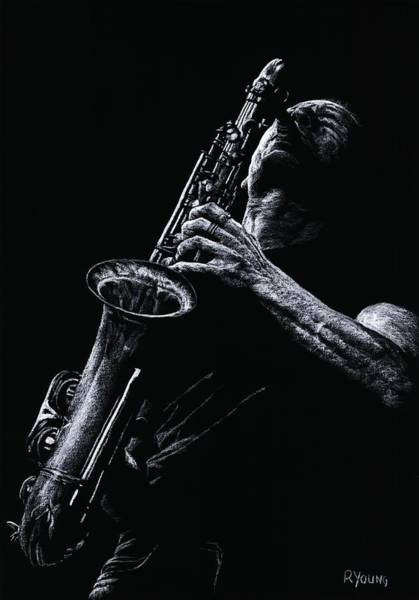 Wall Art - Pastel - Eclectic Sax by Richard Young