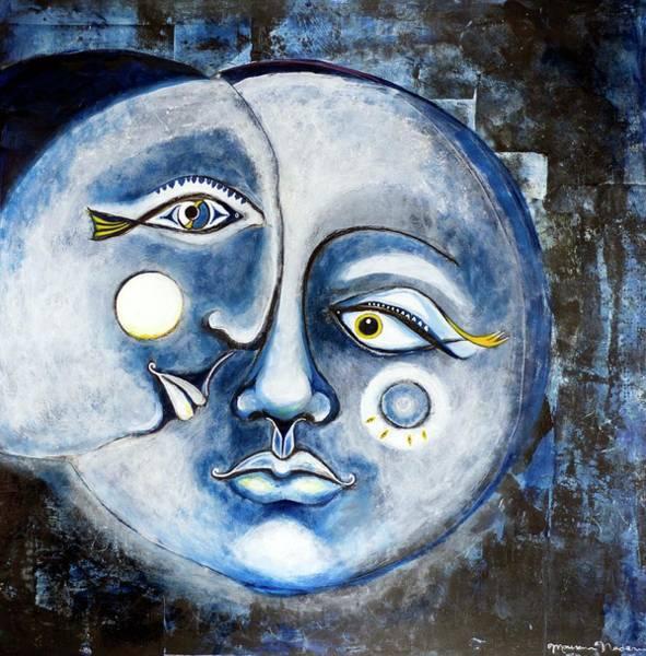 Eclipse Mixed Media - Eclipse Moon  2017 by Maureen Nadeau
